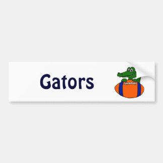 XX- Awesome Gator on a Football Cartoon Car Bumper Sticker