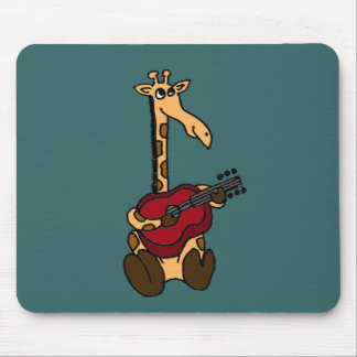 XX- Awesome Giraffe Playing Guitar Mouse Pad