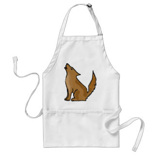 XX- Awesome Howling Coyote Adult Apron