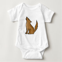 XX- Awesome Howling Coyote Baby Bodysuit