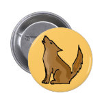 XX- Awesome Howling Coyote Pin