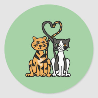 XX- Awesome Kitty Cat Love Classic Round Sticker