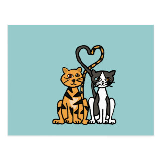 XX- Awesome Kitty Cat Love Postcard