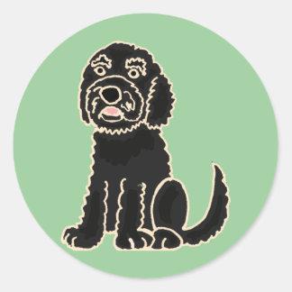 XX- Awesome Labradoodle Puppy Dog Classic Round Sticker