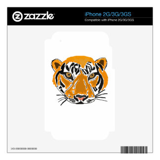 XX- Awesome Leaping Tiger Cartoon iPhone 3G Decal