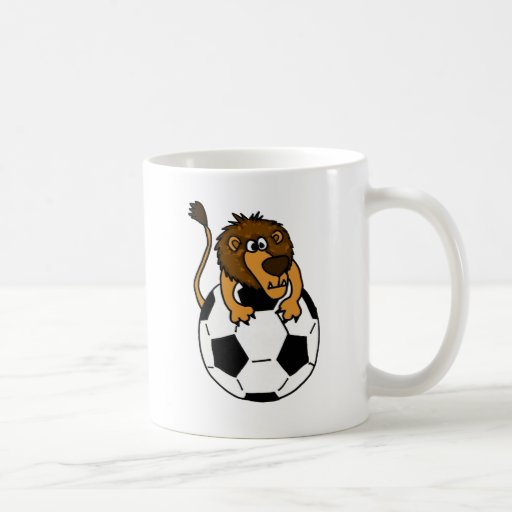 XX- Awesome Lion on a Soccer ball Art Coffee Mug