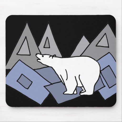 XX- Awesome Polar Bear Art Mousepad