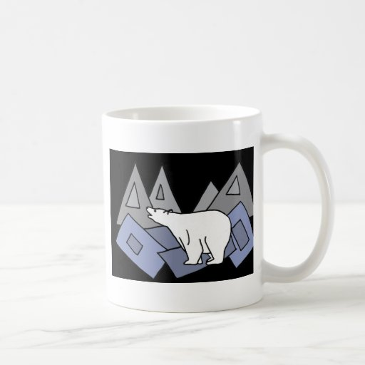 XX- Awesome Polar Bear Art Coffee Mugs