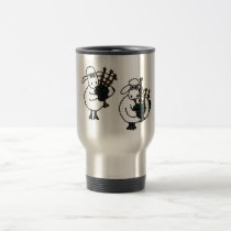 XX- Awesome Sheep Playing Bagpipes Travel Mug