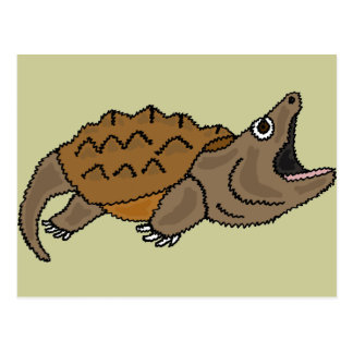 XX- Awesome Snapping Turtle Postcard