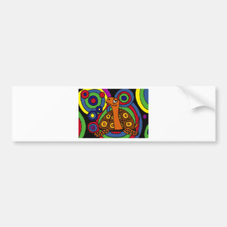 XX- Awesome Turtle Abstract Art Bumper Sticker
