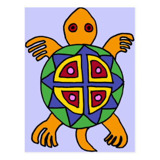 XX- Awesome Turtle Mexican Art Style Postcard