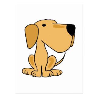XX- Awesome Yellow Labrador Puppy Dog Postcard