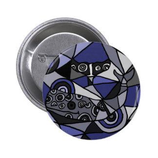 XX ballenas del arte abstracto Pin Redondo De 2 Pulgadas