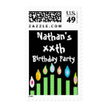 xx Birthday with Oodles of Green Candles Stamp