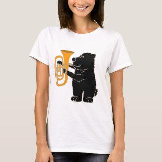 XX- Black Bear Playing Tuba T-Shirt