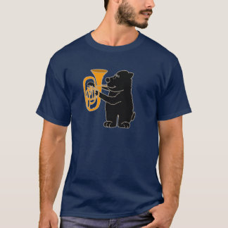 XX- Black Bear Playing Tuba T-Shirt