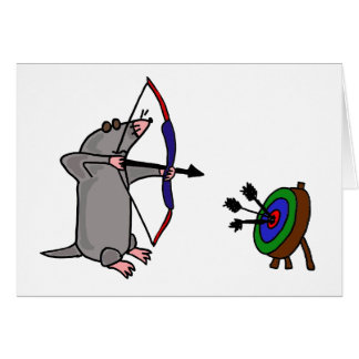 XX- Blind Mole in Archery Competition Card