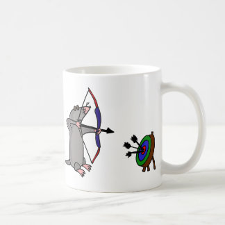 XX- Blind Mole in Archery Competition Coffee Mug