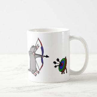 XX- Blind Mole in Archery Competition Coffee Mug