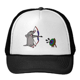 XX- Blind Mole in Archery Competition Hat