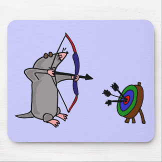 XX- Blind Mole in Archery Competition Mousepad