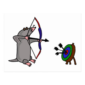 XX- Blind Mole in Archery Competition Postcard