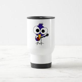 XX- Bluebird Playing Banjo Cartoon Travel Mug