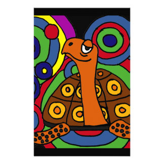 XX- Box Turtle Abstract Art Design Stationery