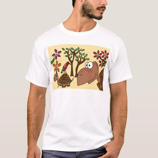 XX- Box Turtle and Flowers Folk Art T-Shirt
