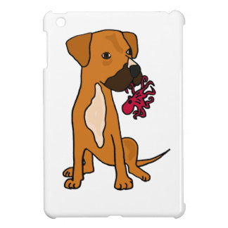 XX- Boxer Mix Rescue Dog Eating Octopus Cover For The iPad Mini