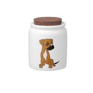 XX- Boxer Mix Rescue Dog Puppy Cartoon Candy Dish
