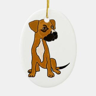 XX- Boxer Mix Rescue Dog Puppy Cartoon Ceramic Ornament