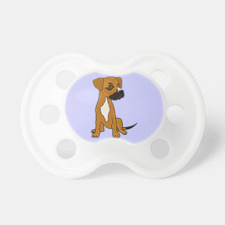 XX- Boxer Mix Rescue Dog Puppy Cartoon BooginHead Pacifier