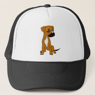 XX- Boxer Mix Rescue Dog Puppy Cartoon Trucker Hat