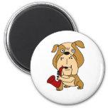 XX- Bulldog Playing the Saxophone Fridge Magnets
