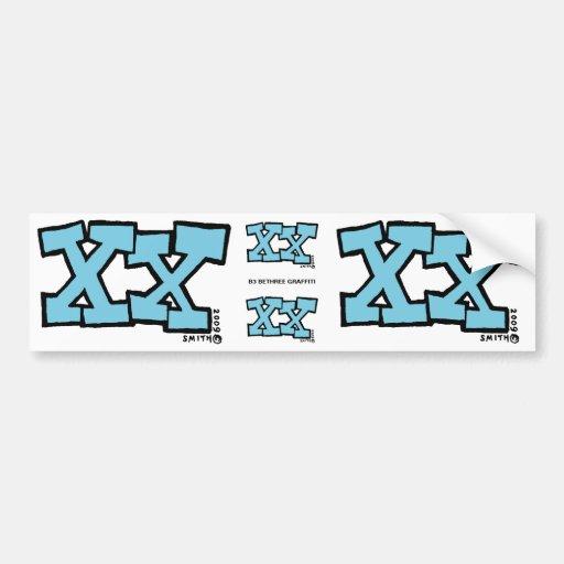 XX bumper sticker