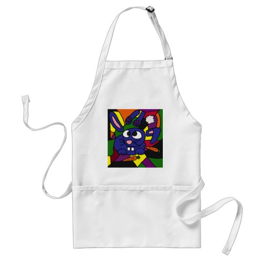 XX- Bunny Rabbit Cubist Art Adult Apron