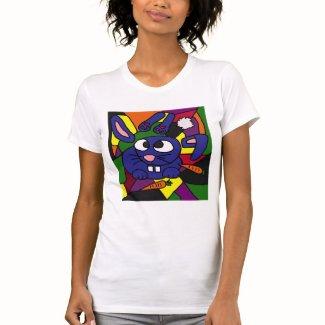 XX- Bunny Rabbit Cubist Art Tshirts