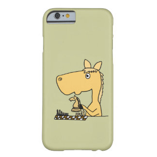 XX caballo que juega el dibujo animado del ajedrez Funda De iPhone 6 Barely There
