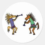 XX caballos de baile Pegatina Redonda