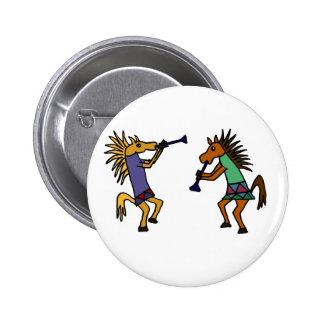 XX caballos de baile Pin Redondo De 2 Pulgadas