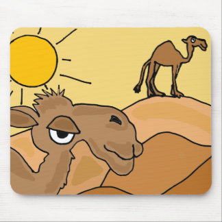 XX- Camel in the Desert Folk Art Mouse Pad