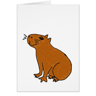 XX- Capybara Art Card