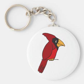 XX cardenal rojo enrrollado Llavero Redondo Tipo Pin