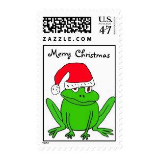 XX- Cartoon Frog Christmas Stamps