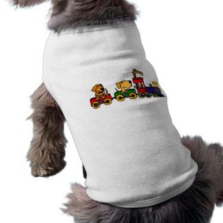 XX- Cartoon Train with Dogs and Giraffe Shirt