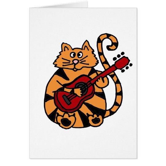 XX- Cat Playing Guitar Design Card