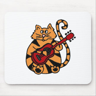 XX- Cat Playing Guitar Design Mouse Pad