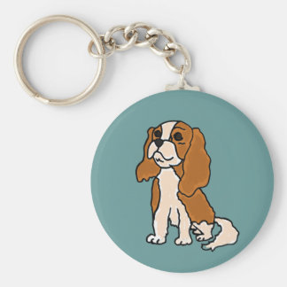 XX- Cavalier King Charles Spaniel Dog Cartoon Keychain